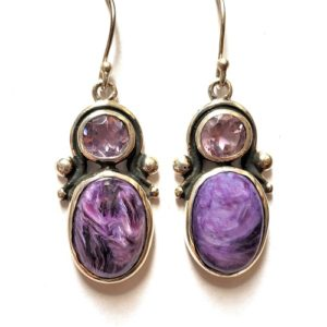 Charoite Wire Earrings 20