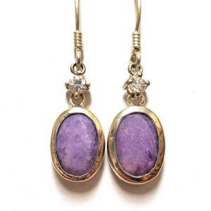 Charoite Wire Earrings 25