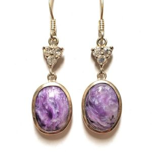 Charoite Wire Earrings 26
