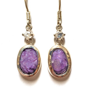 Charoite Wire Earrings 27