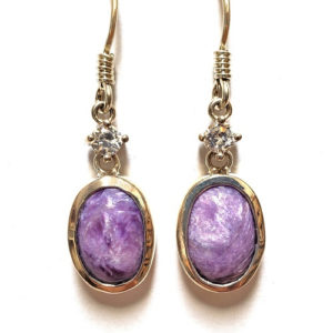 Charoite Wire Earrings 28