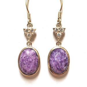 Charoite Wire Earrings 29