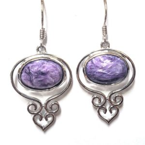 Charoite Wire Earrings 6