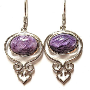 Charoite Wire Earrings 8