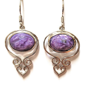 Charoite Wire Earrings 9