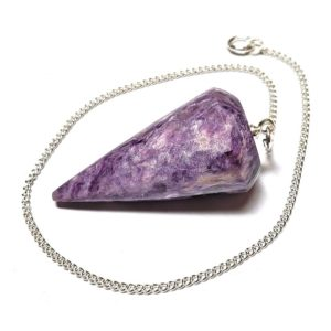 Charoite Hexagon Point Pendant 1