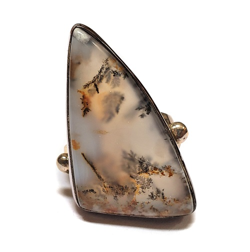 Dendritic Agate Ring #3
