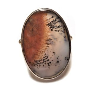 Dendritic Agate Ring #9