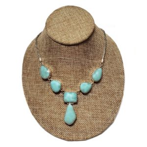 Larimar Necklace in Sterling Silver 2