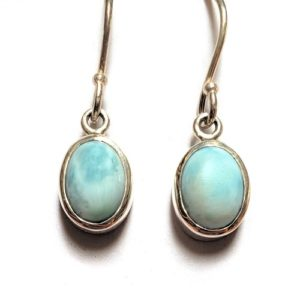 Larimar Wire Earrings 2