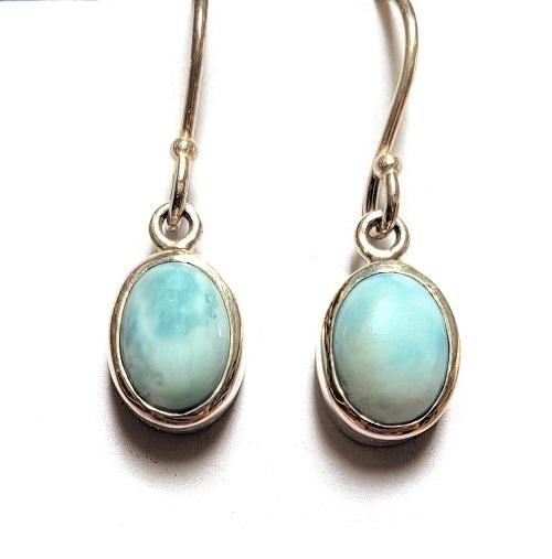 Larimar Wire Earrings 2