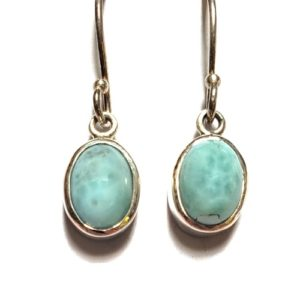 Larimar Wire Earrings 3