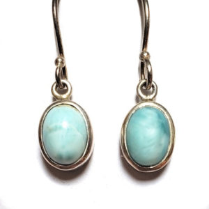 Larimar Wire Earrings 4