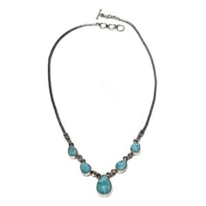Larimar Necklace in Sterling Silver 1