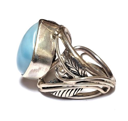 Larimar Ring #10