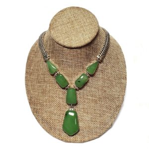 Nephrite Necklace in Sterling Silver 2