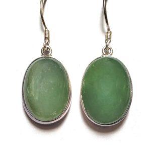 Nephrite Jade Wire Earrings 4