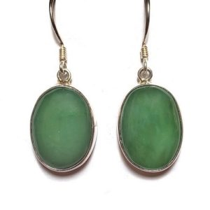 Nephrite Jade Wire Earrings 5