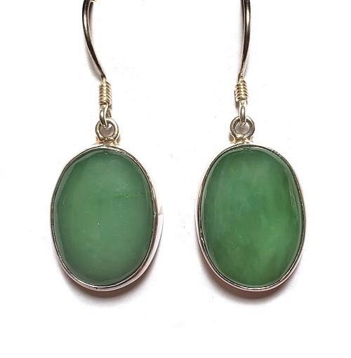 Nephrite Jade Wire Earrings 5