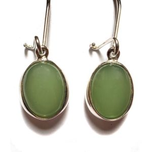 Nephrite Jade Wire Earrings 7