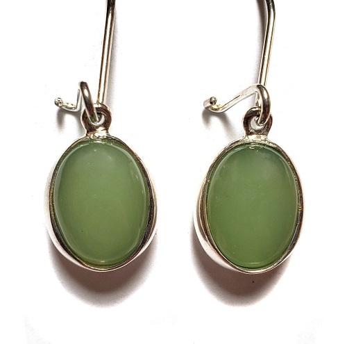 Nephrite Jade Wire Earrings 7