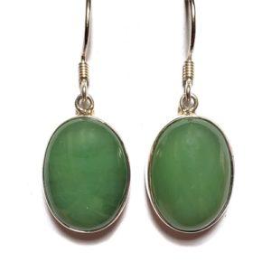 Nephrite Jade Wire Earrings 9