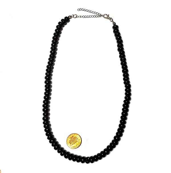 Petrovsky Shungite Necklace Rondelle