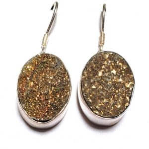 Rainbow Pyrite Earrings 2