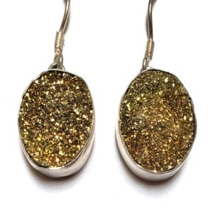 Rainbow Pyrite Earrings 4