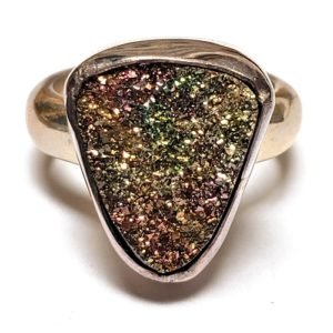 Rainbow Pyrite Ring in Sterling Silver 2