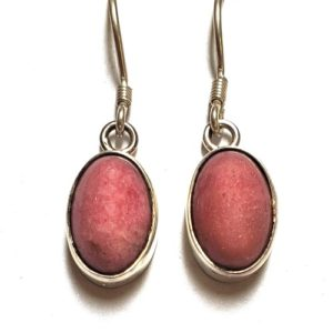 Rhodonite Wire Earrings 2