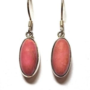 Rhodonite Wire Earrings 6