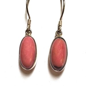Rhodonite Wire Earrings 7