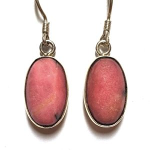Rhodonite Wire Earrings 8