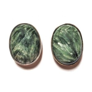 Seraphinite Post Earrings 10