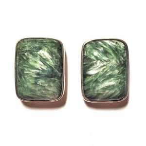 Seraphinite Post Earrings 13