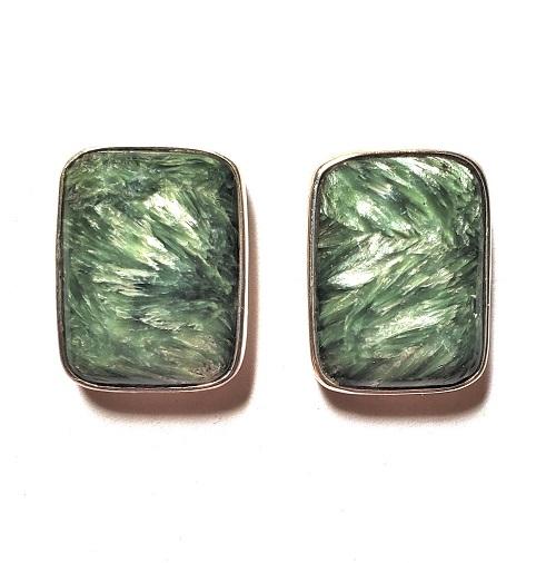 Seraphinite Post Earrings 13