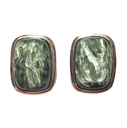 Seraphinite Post Earrings 7