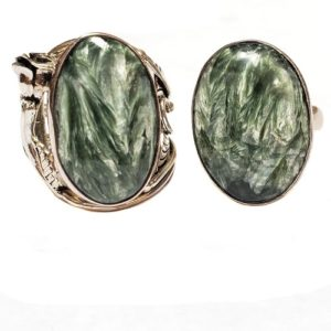 Seraphinite Rings in Sterling Silver