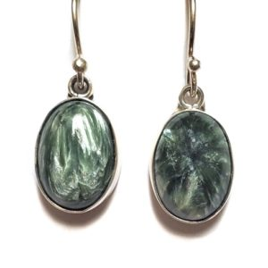 Seraphinite Wire Earrings 16