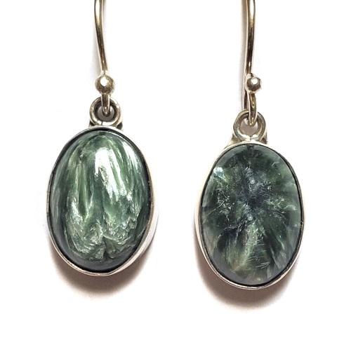Seraphinite Wire Earrings 16