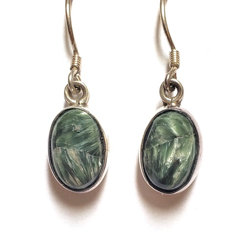 Seraphinite Wire Earrings 2