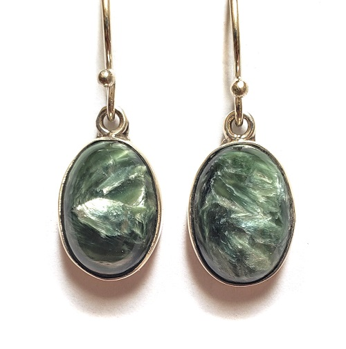 Seraphinite Wire Earrings 4