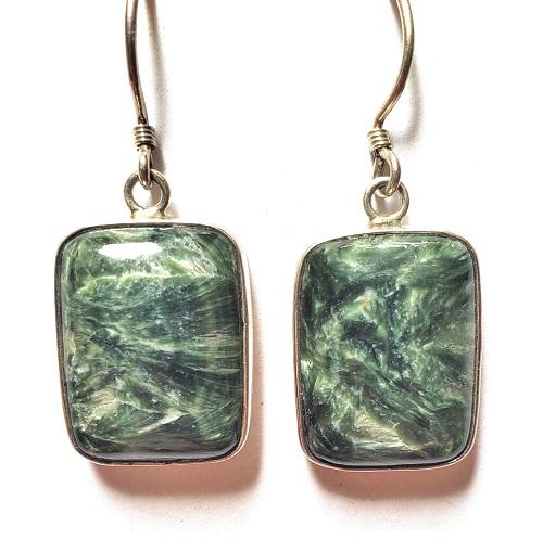 Seraphinite Wire Earrings 6