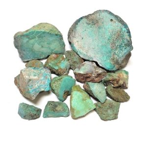 Chinese Stabilized Turquoise Rough - Mixed Color & Size - $68.00/lb (~$0.15/gram)