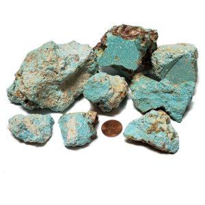 Natural Cumpas Turquoise Rough - Fine Blue Color - $350/lb (~$0.77/gram)