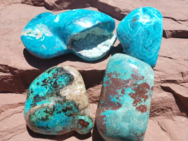 Assorted Chrysocolla Polished Pieces