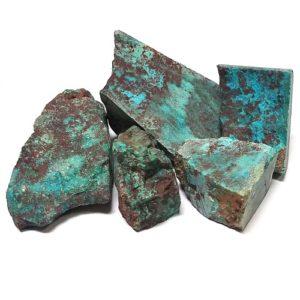 Chrysocolla in Quartz (Gem Silica) Rough from Arizona - $225.00/pound (~$0.50/gram)