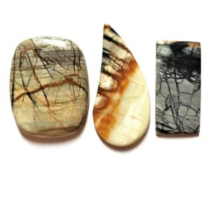Picasso Marble Cabochons from Utah