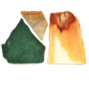 Jade Slabs: Nephrite, Jadeite and Hydrogrossular Garnet (Tansvaal Jade)
